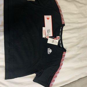 Pink and black Kappa shirt